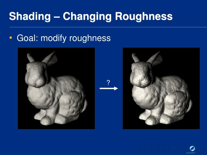 Shading – Changing Roughness