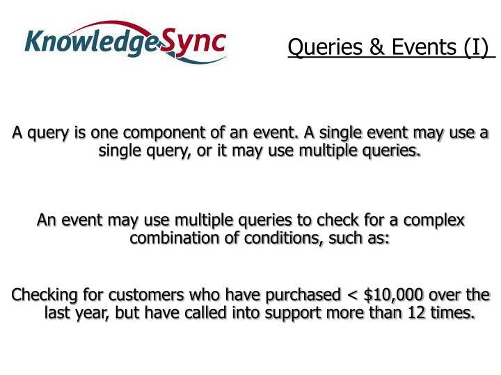 Queries & Events (I)