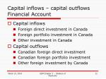 capital inflows capital outflows financial account