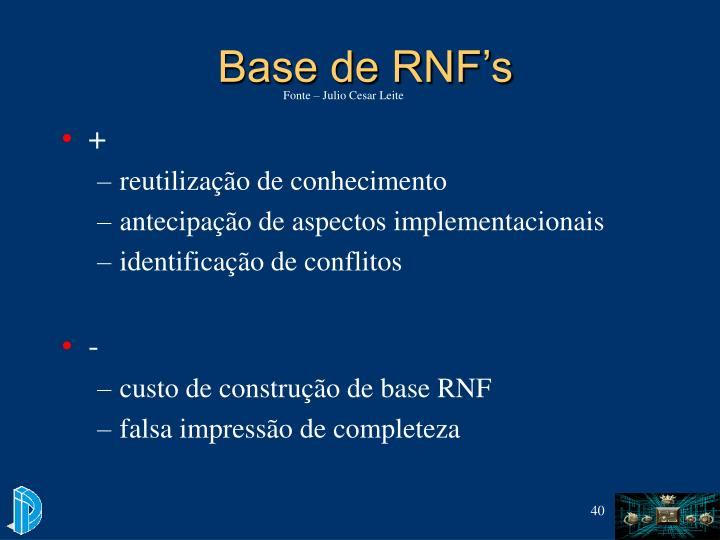Base de RNF's