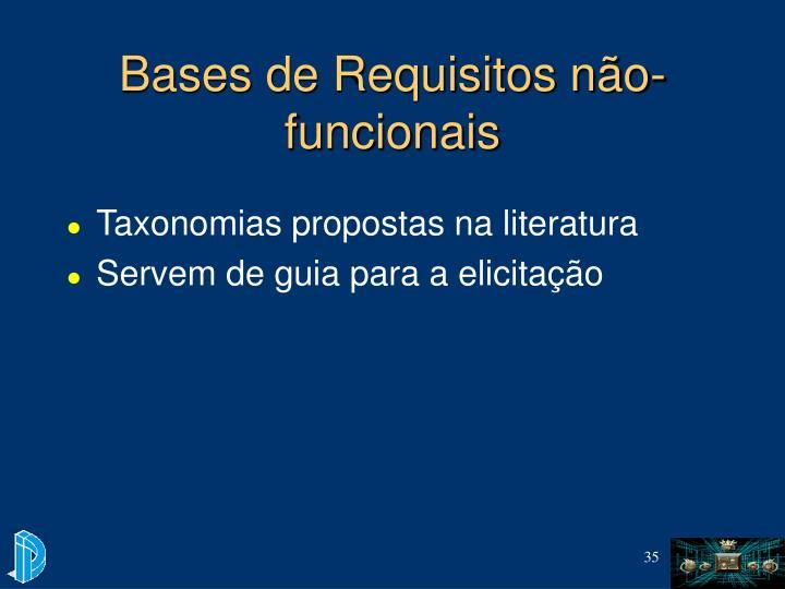 Bases de Requisitos não-funcionais