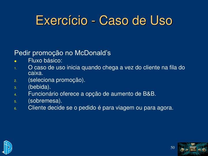 Exercício - Caso de Uso