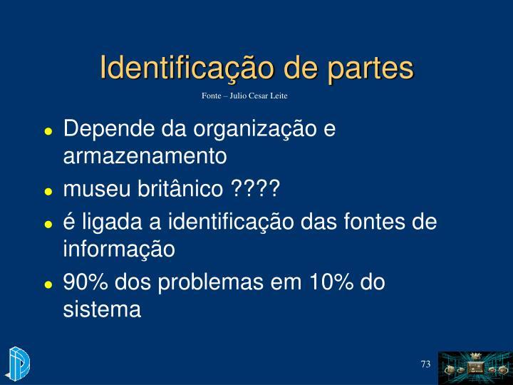 Identificação de partes