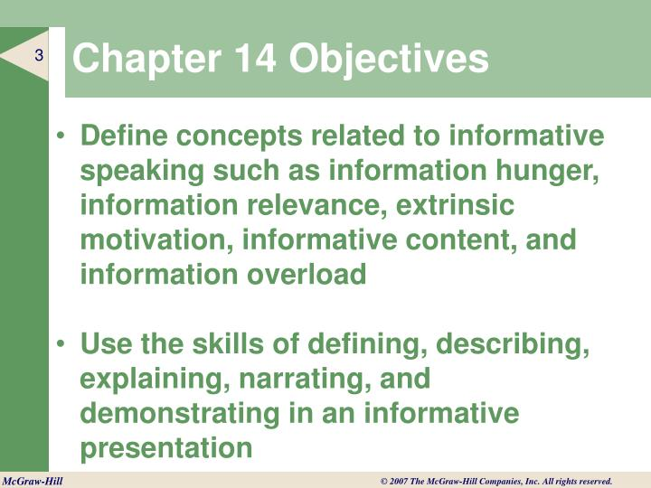Chapter 14 objectives1