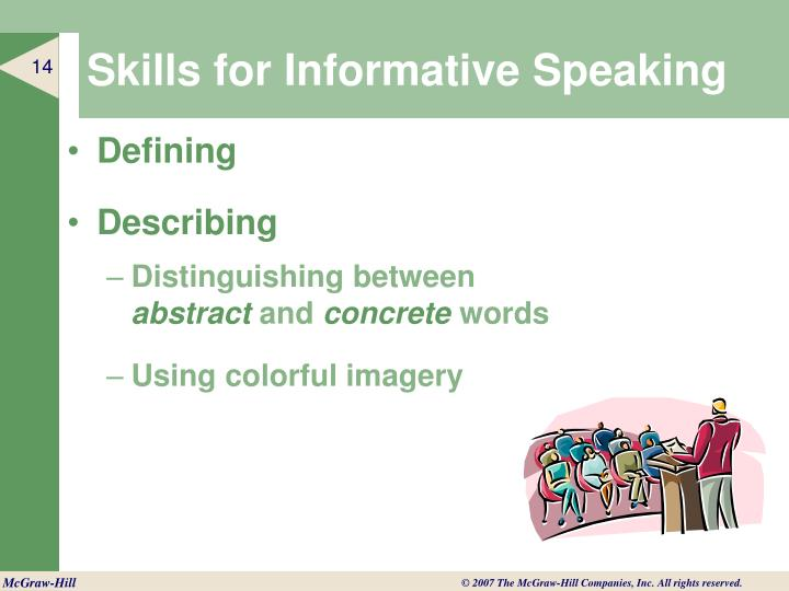 Skills for Informative Speaking
