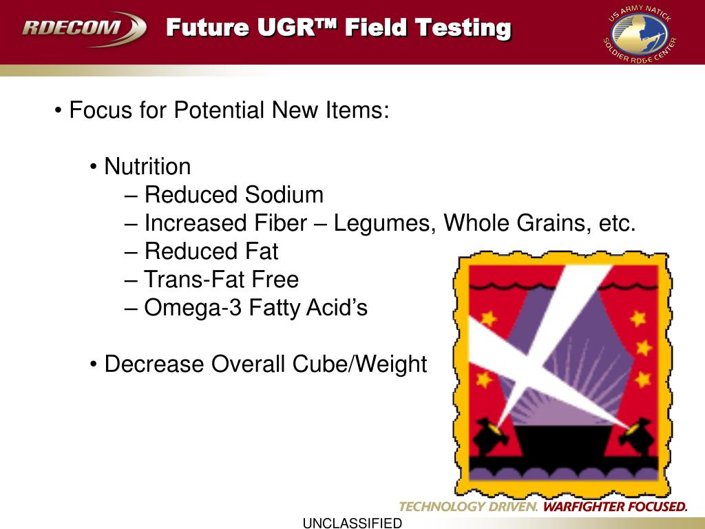 Future UGR™ Field Testing
