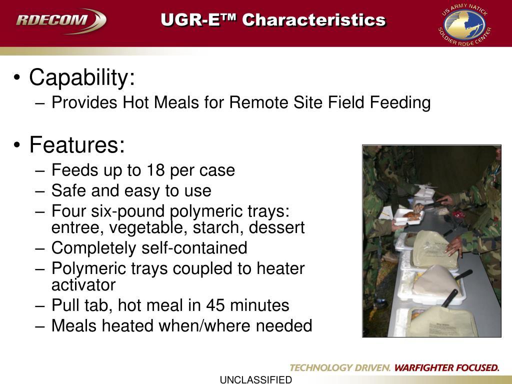 UGR-E™ Characteristics