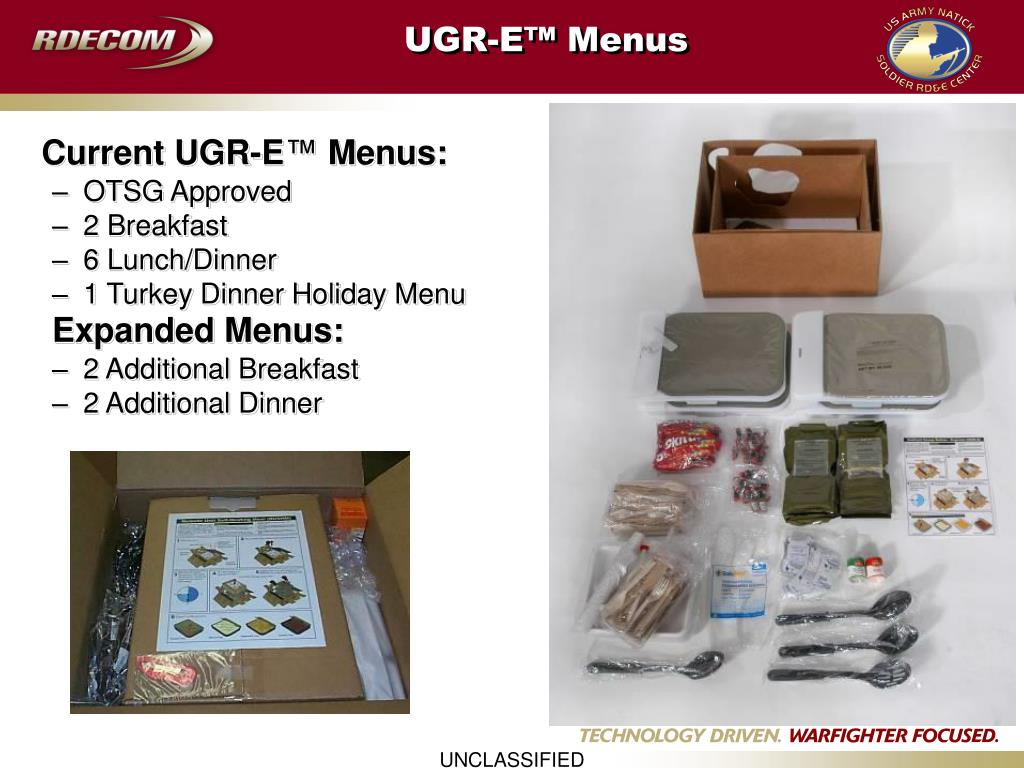 UGR-E™ Menus