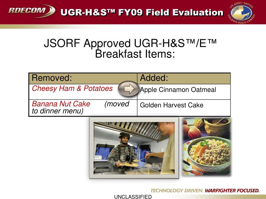 UGR-H&S™ FY09 Field Evaluation