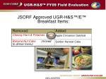 ugr h s fy09 field evaluation11