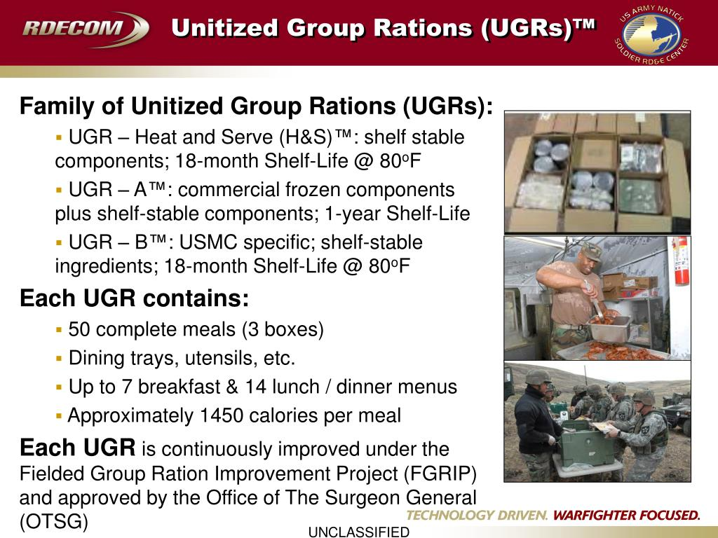 Unitized Group Rations (UGRs)™