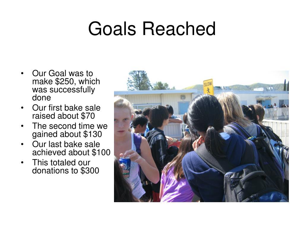 Goals Reached