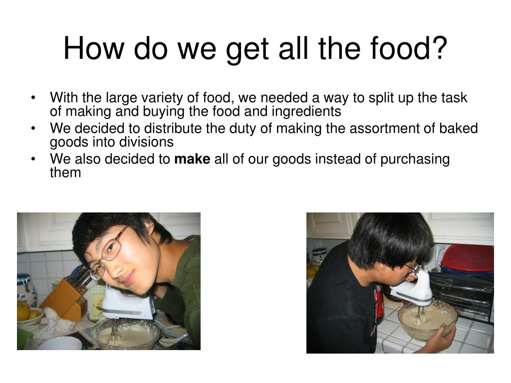 How do we get all the food?