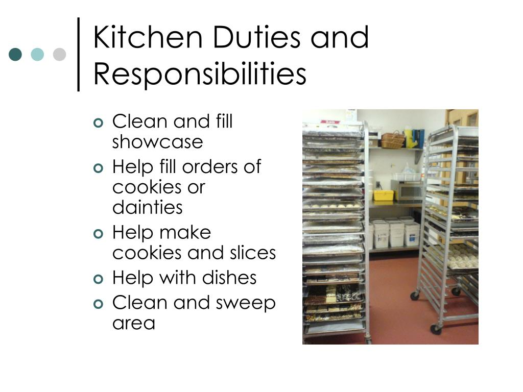 Kitchen Duties and Responsibilities