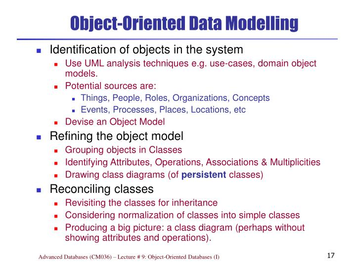 Object-Oriented Data Modelling