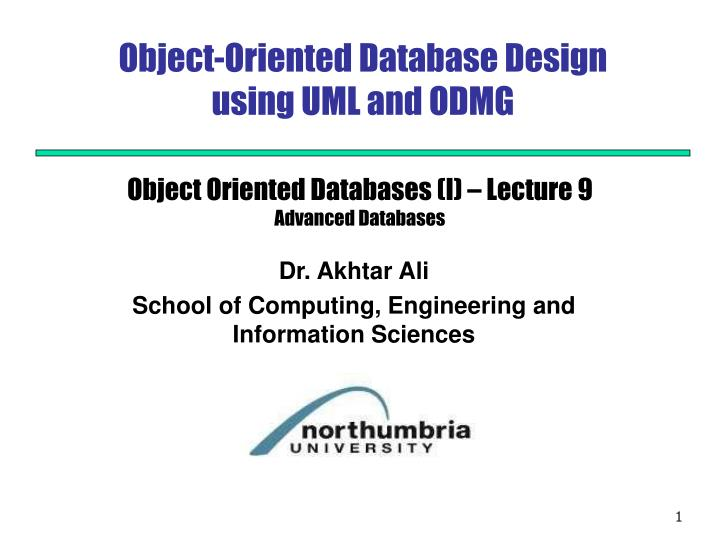 object oriented database design using uml and odmg