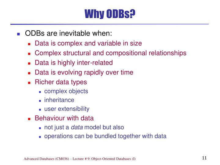 Why ODBs?