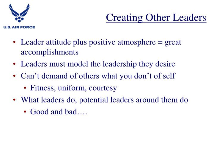 Creating Other Leaders