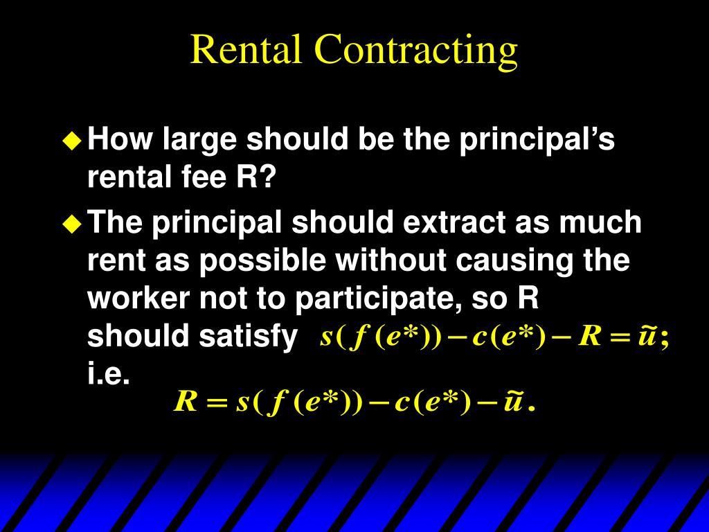 Rental Contracting