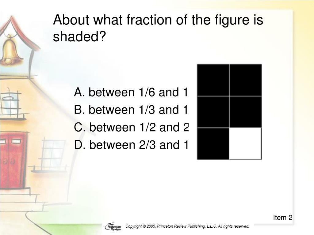 About what fraction of the figure is shaded?