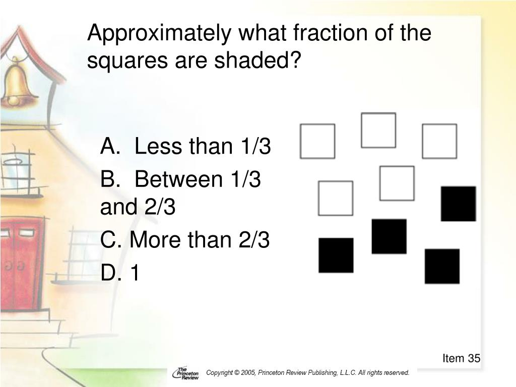 Approximately what fraction of the squares are shaded?