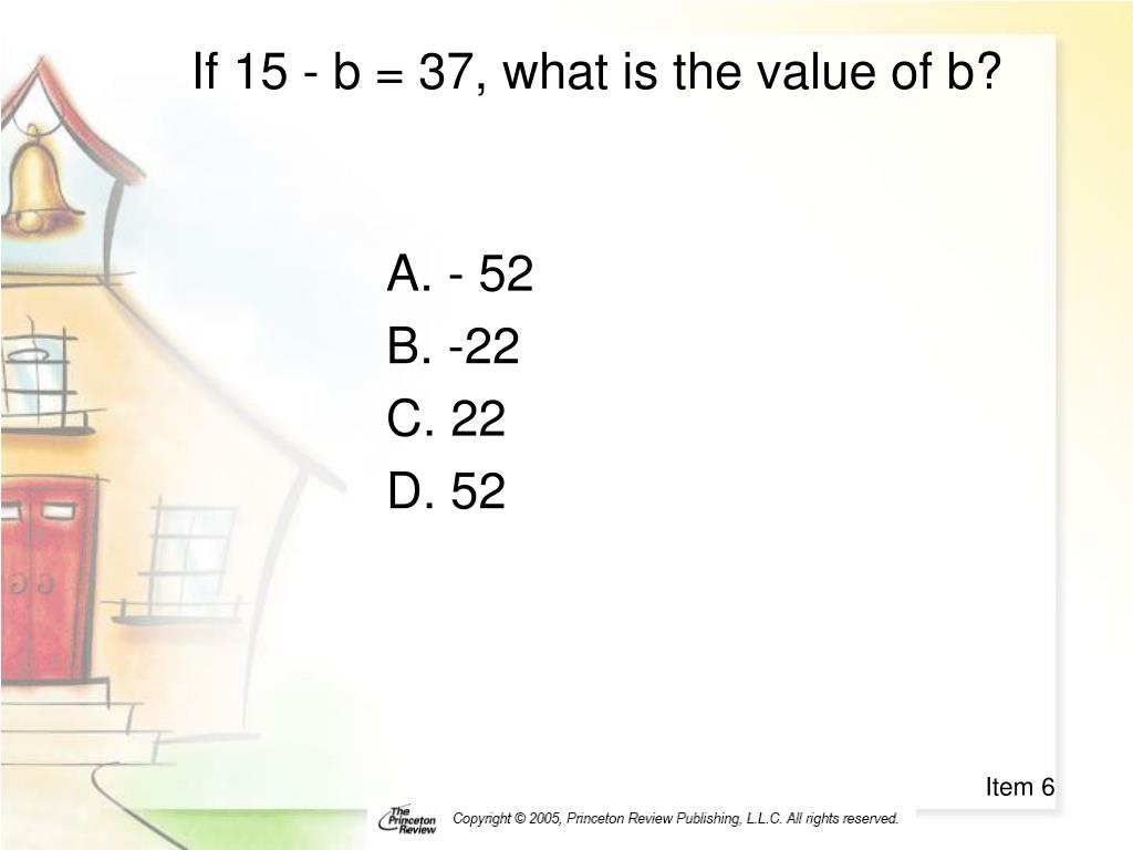 If 15 - b = 37, what is the value of b?