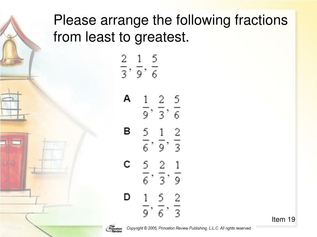 Please arrange the following fractions from least to greatest.