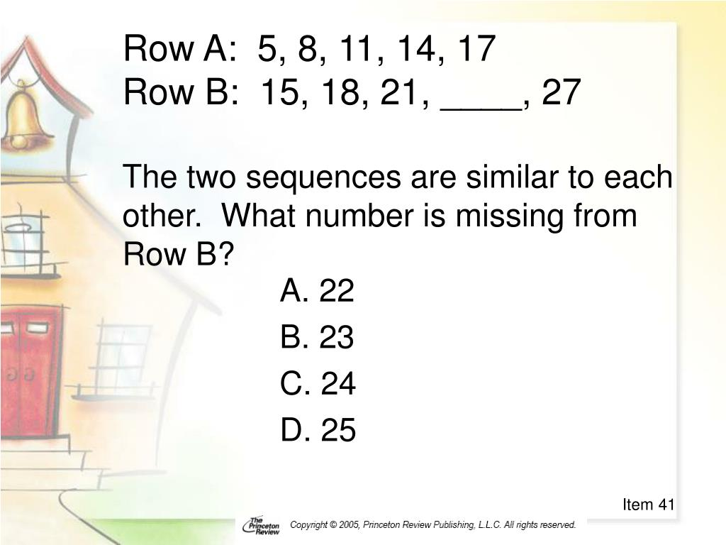 Row A:  5, 8, 11, 14, 17