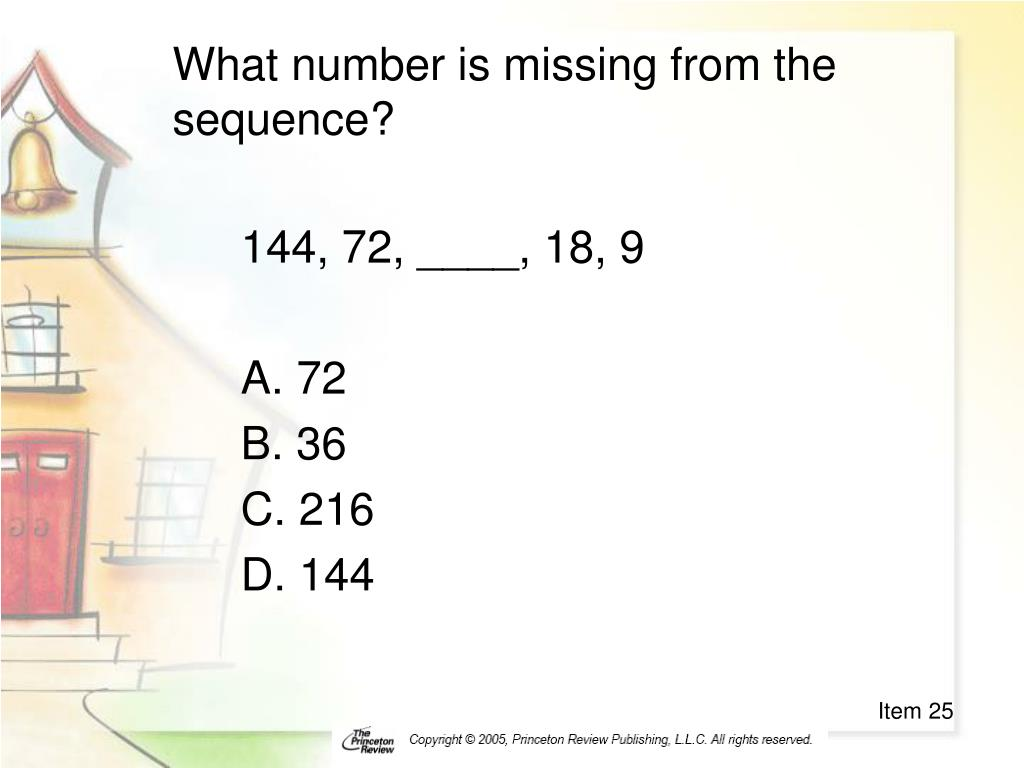 What number is missing from the sequence?