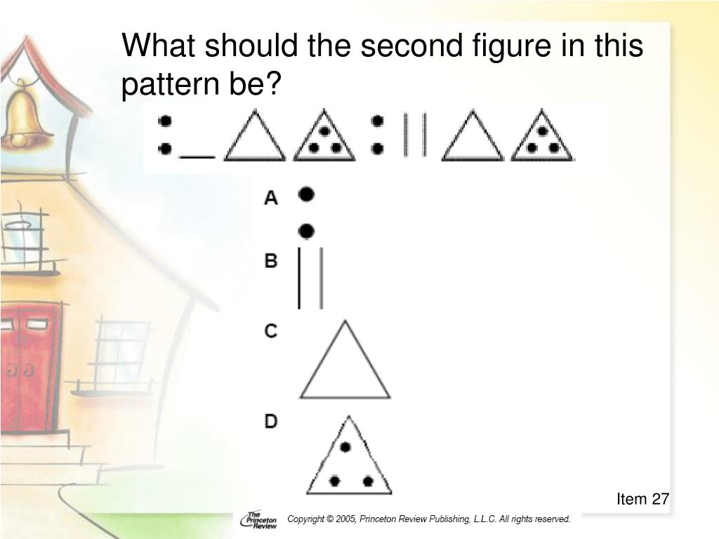 What should the second figure in this pattern be?