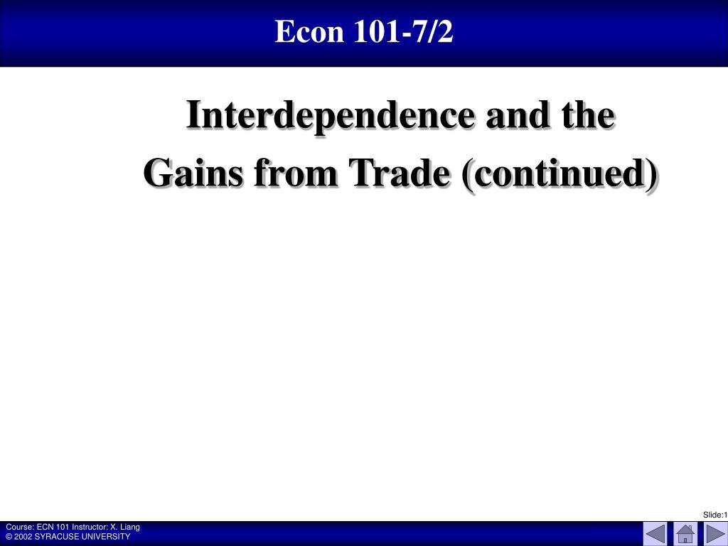 Econ 101-7/2