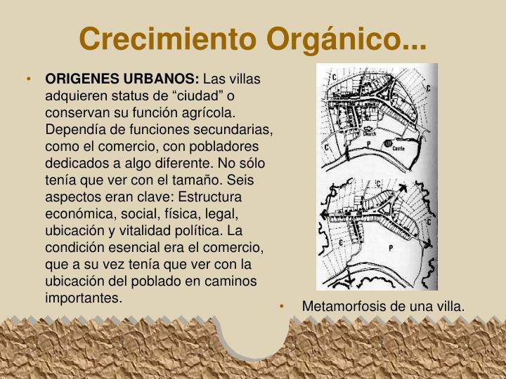 ORIGENES URBANOS: