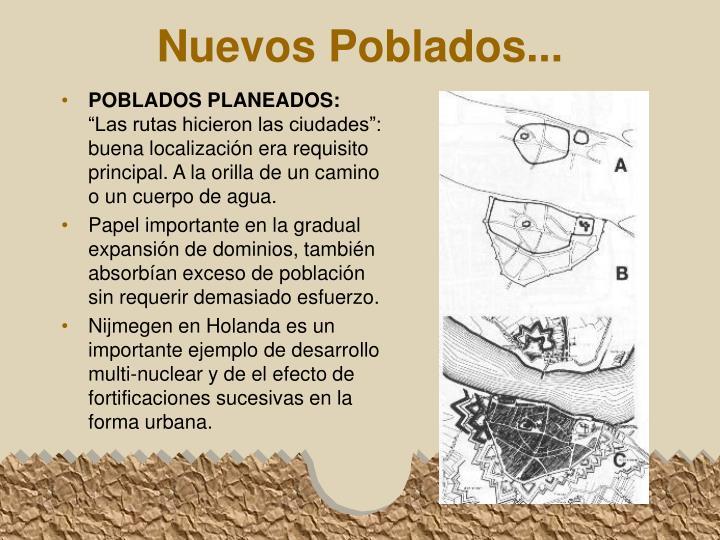 POBLADOS PLANEADOS: