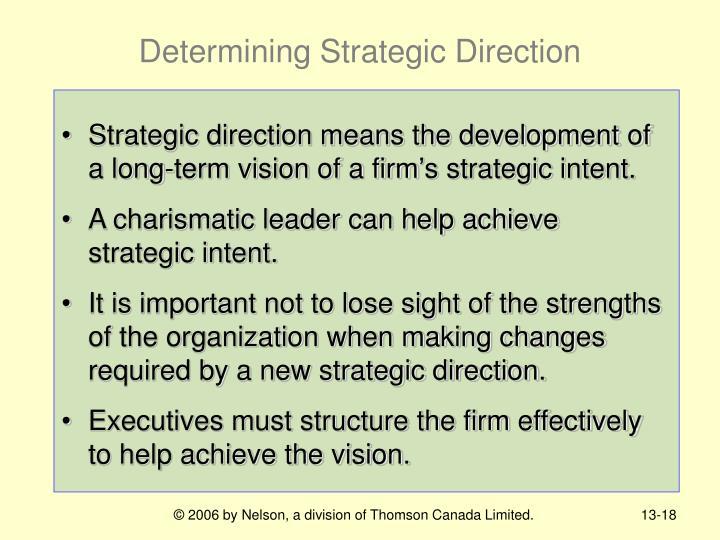 Determining Strategic Direction