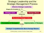 strategic leadership and the strategic management process