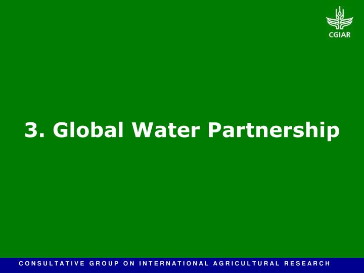 3. Global Water Partnership