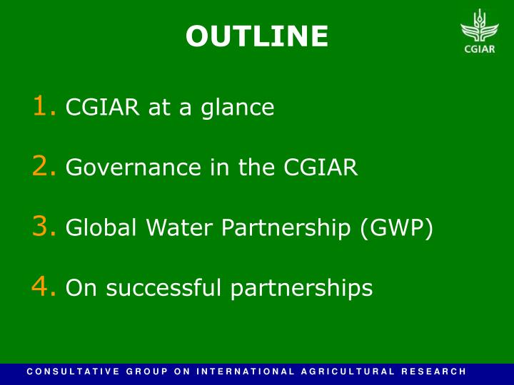 CGIAR at a glance