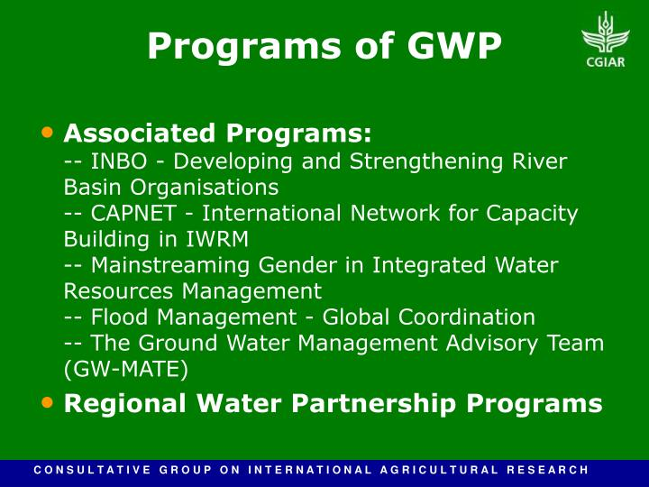 Associated Programs: