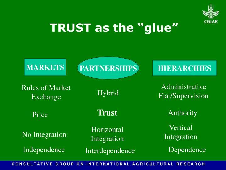 "TRUST as the ""glue"""