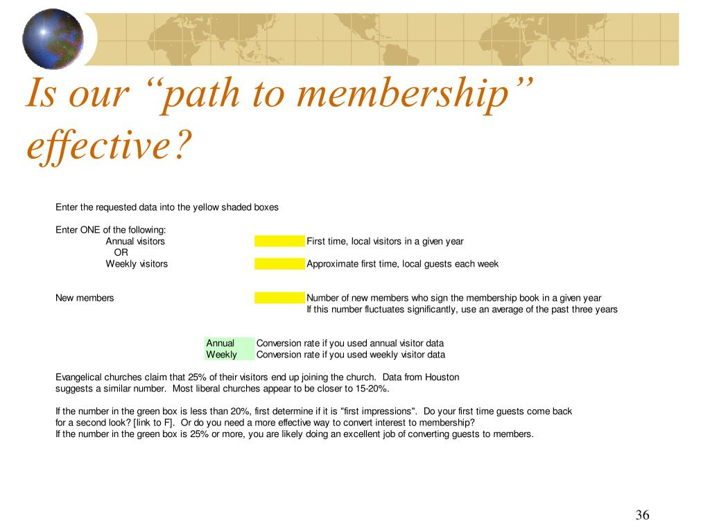 """Is our """"path to membership"""" effective?"""