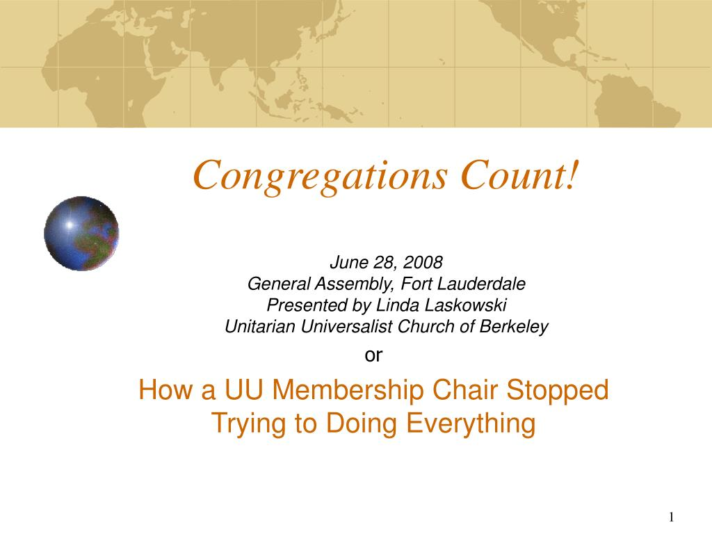 Congregations Count!