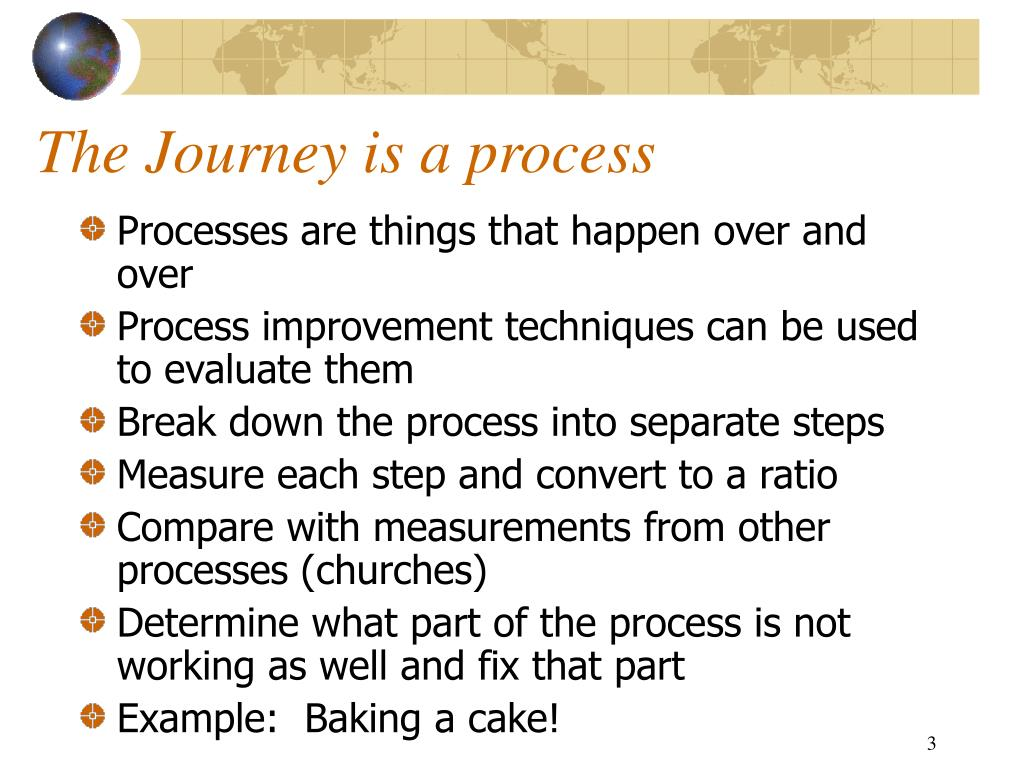 The Journey is a process