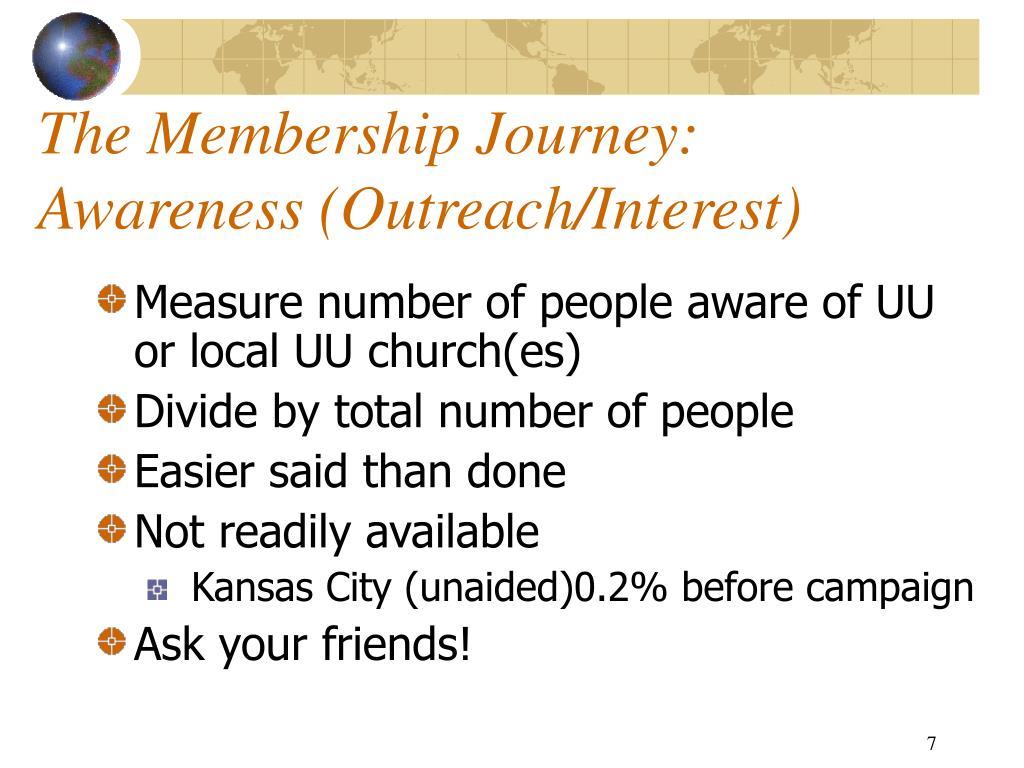 The Membership Journey:  Awareness (Outreach/Interest)