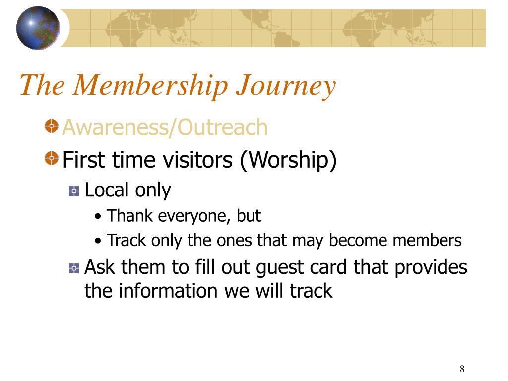 The Membership Journey