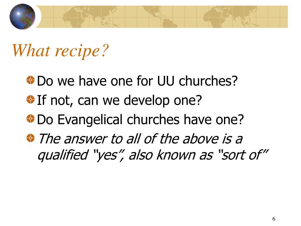 What recipe?