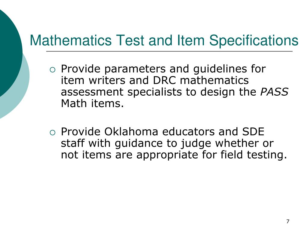 Mathematics Test and Item Specifications