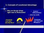 3 concepts of locational advantage