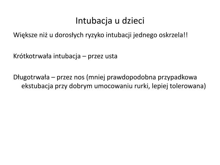 Intubacja u dzieci