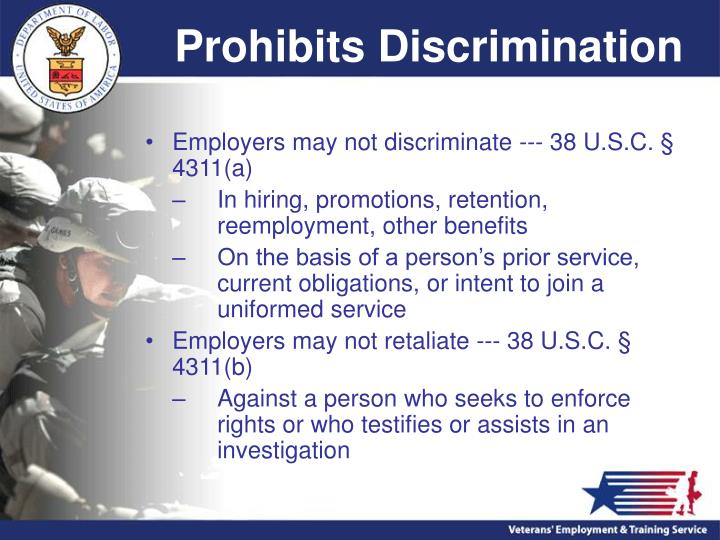 Prohibits Discrimination