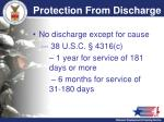 protection from discharge